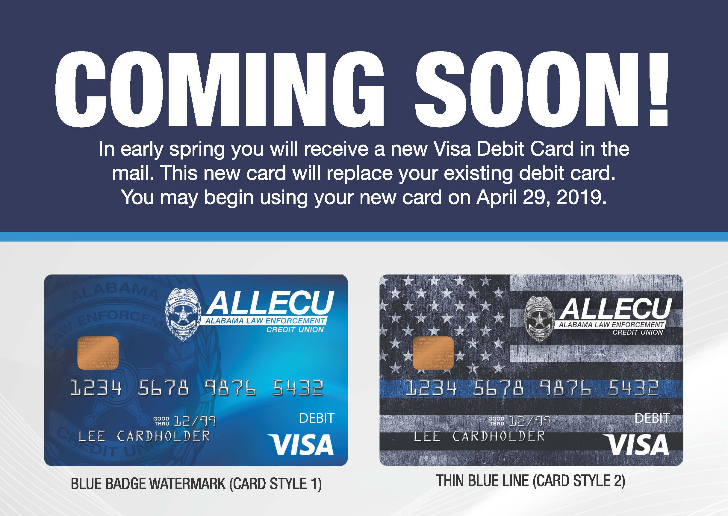 New Alabama Law debit cards are coming soon!